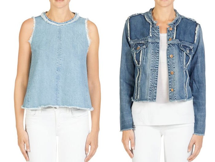 Frayed Hems Beyond the Denim Short - J Brand Top and Jacket