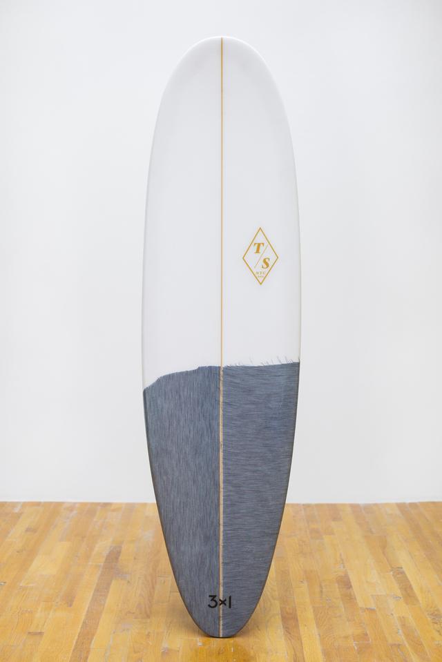 Denim Surfboards by 3x1 and Token - Token Lagos Egg Board