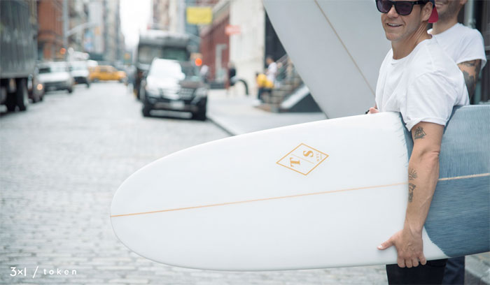 Denim Surfboards by 3x1 and Token