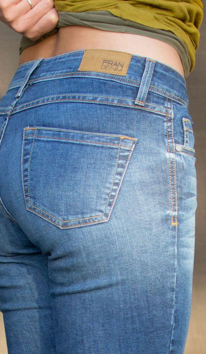 Fran Denim Sarah Skinny Jean Review - Back Detail View