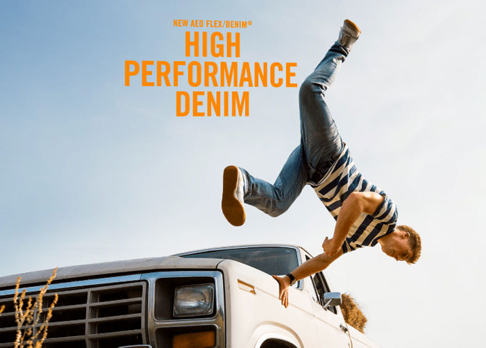 American Eagle Outfitters Introduces Flex/Denim for Men - High Performance