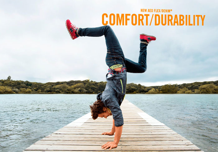 American Eagle Outfitters Introduces Flex/Denim for Men - Comfort/Durability