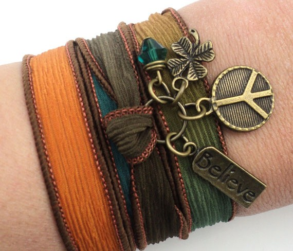 Favorite Finds from Etsy - Silk Wrap Bracelet by BohemianEarthDesigns