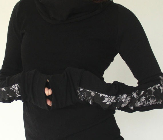 Favorite Finds from Etsy - Turtleneck Cowl Neck Top by joclothing
