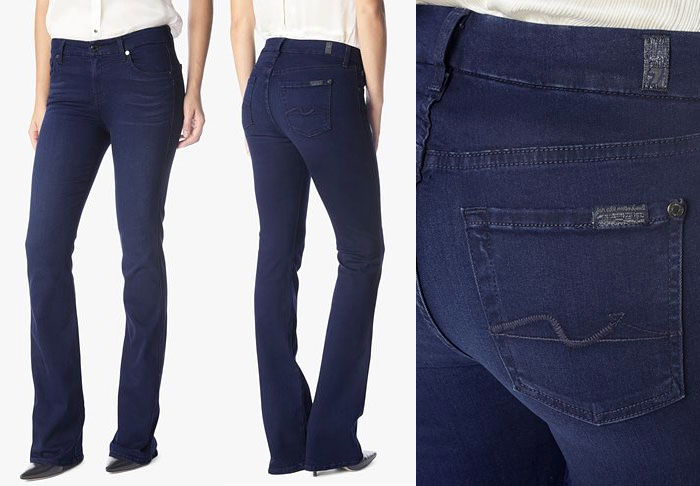 Slim Illusion Luxe by 7 For All Mankind - Kimmie Bootcut in Luxe Rich Blue