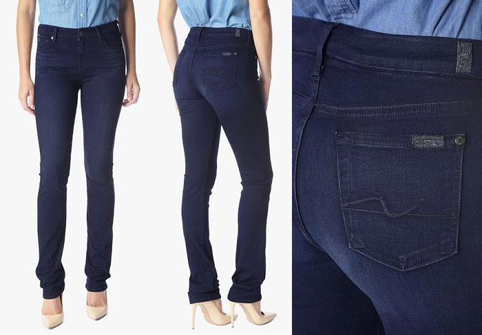 Slim Illusion Luxe by 7 For All Mankind - Kimmie Straight in Luxe Rich Blue