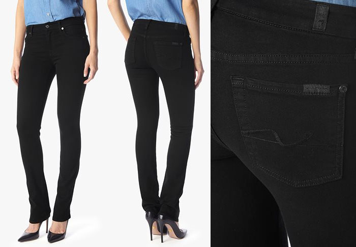 Slim Illusion Luxe by 7 For All Mankind - Kimmie Straight in Luxe Black
