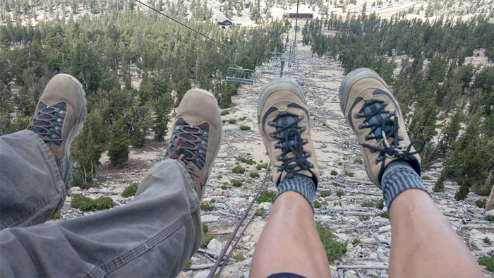 A Much Needed Vacation in Tahoe - Feet Chair Lift