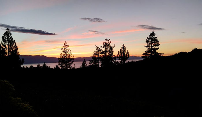 A Much Needed Vacation in Tahoe - Sunset