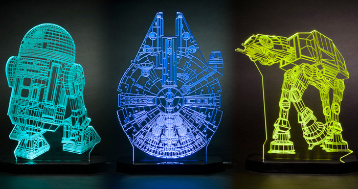 Star Wars Merchandise Abounds - LED Lamps