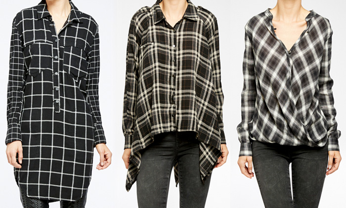 Edgy New Arrivals from BLANKNYC - Black Plaid