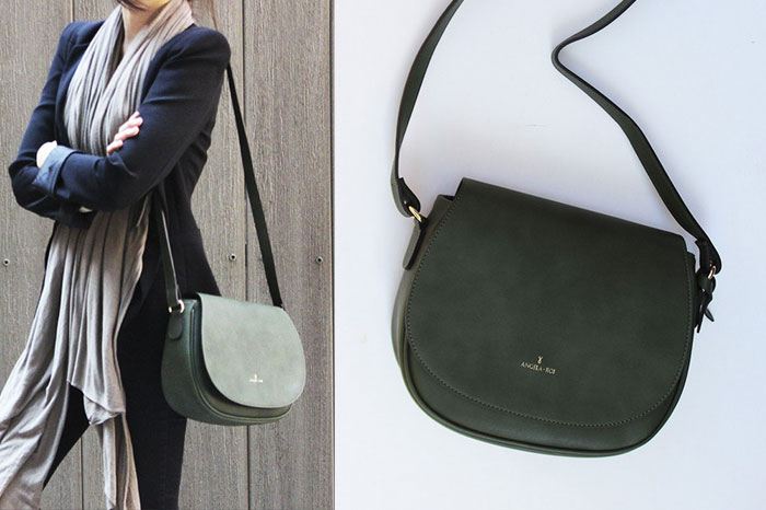 Changing The World with Angela Roi Handbags - Morning Crossbody in Green