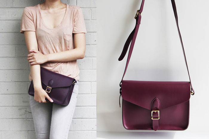 Changing The World with Angela Roi Handbags - Palette Purple Crossbody