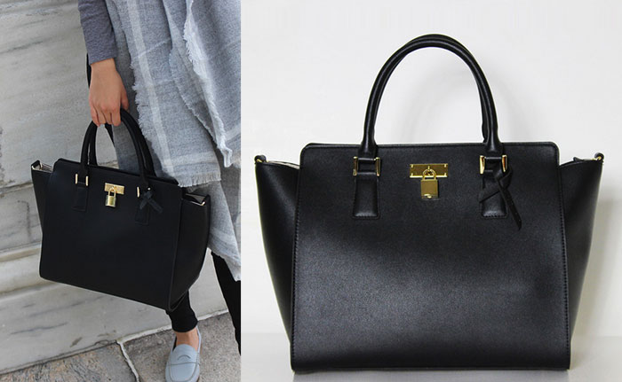 Changing The World with Angela Roi Handbags - Sunday Tote II in Black