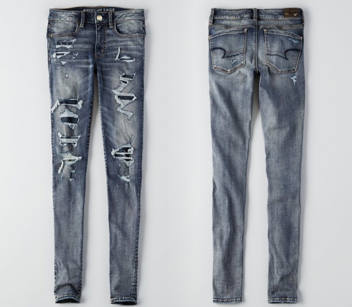 American Eagle Outfitters Releases Denim X Café - Hi Rise Jegging in Doppio Destroy