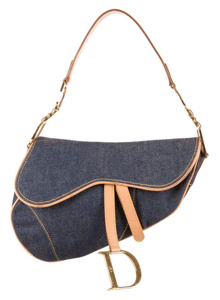 The Good Old Christian Dior Saddle Bag - Blue Denim