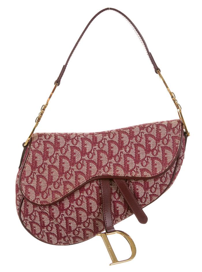 The Good Old Christian Dior Saddle Bag - Burgundy Dorissimo