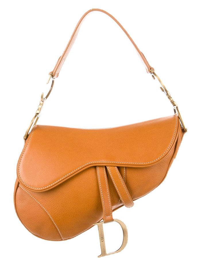 The Good Old Christian Dior Saddle Bag - Camel Leather