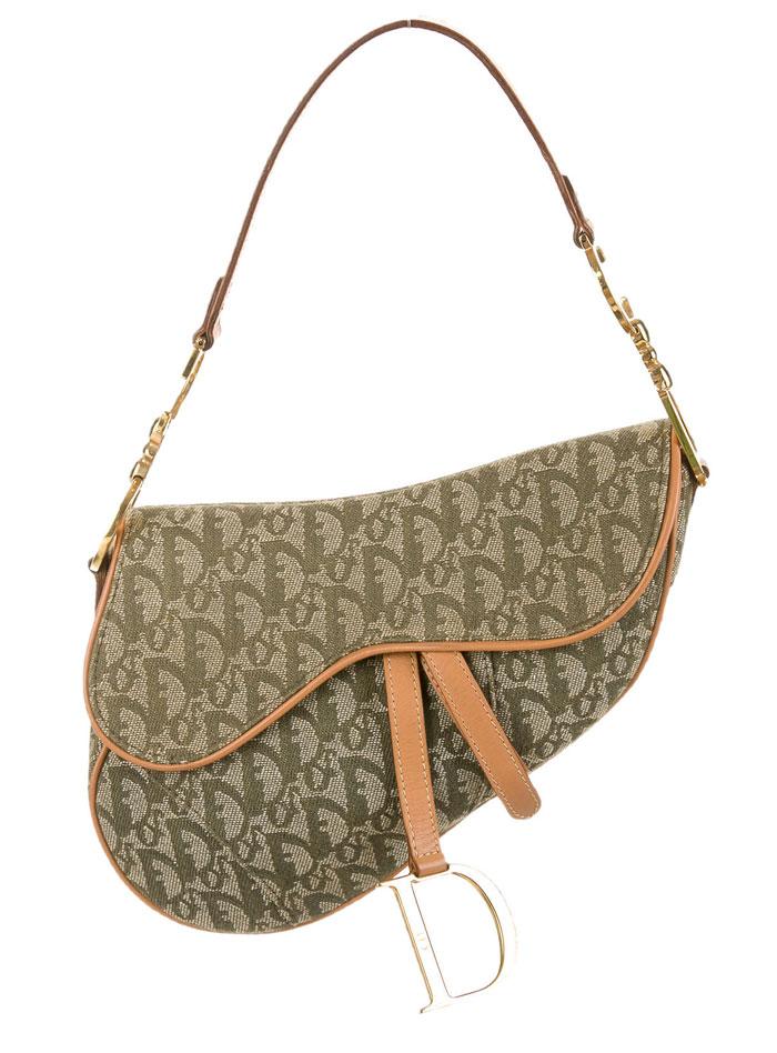The Good Old Christian Dior Saddle Bag - Green Dorissimo