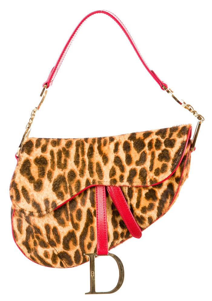 The Good Old Christian Dior Saddle Bag - Leopard Ponyhair