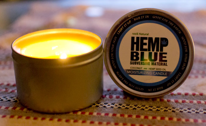 The Hemp Blue Moisturizing Candle