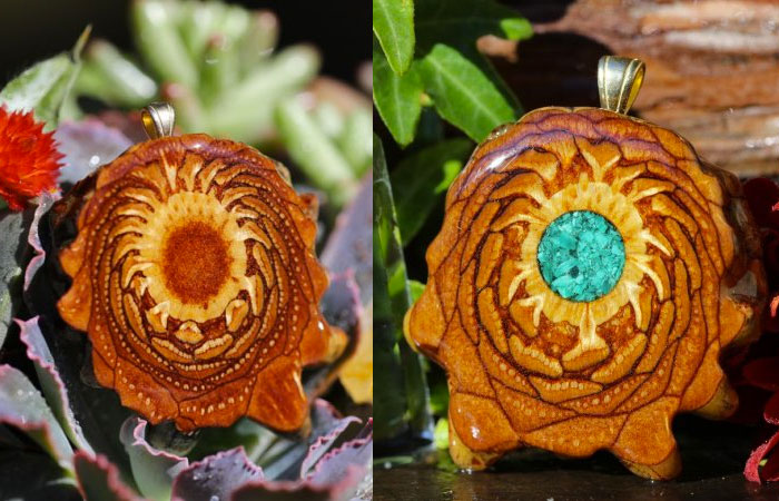 Third Eye Pinecones - Natural and Crushed Malachite