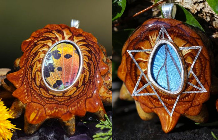 Third Eye Pinecones - Butterfly Wings