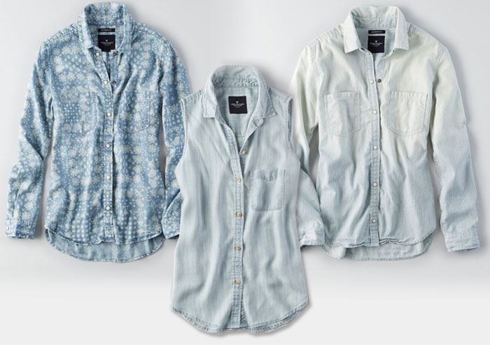 New Denim and Blues from AEO - Denim Shirts