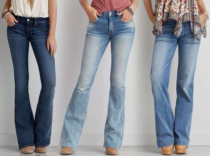 New Denim and Blues from AEO - Flares