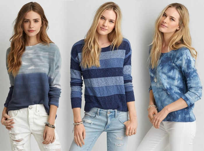 New Denim and Blues from AEO - Tops