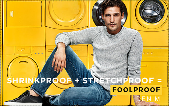 FoolProof Denim by 7 For All Mankind - Shrink Proof and Stretch Proof