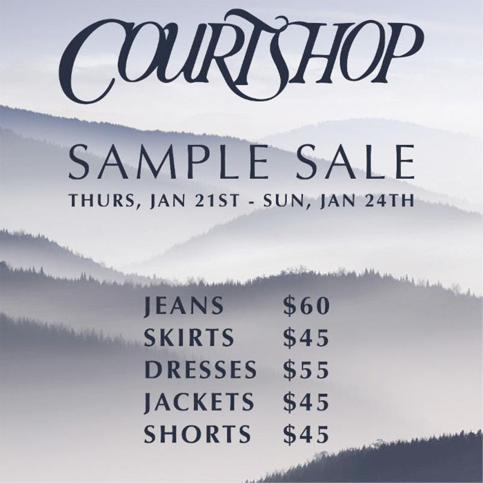 Courtshop Denim Sample Sale