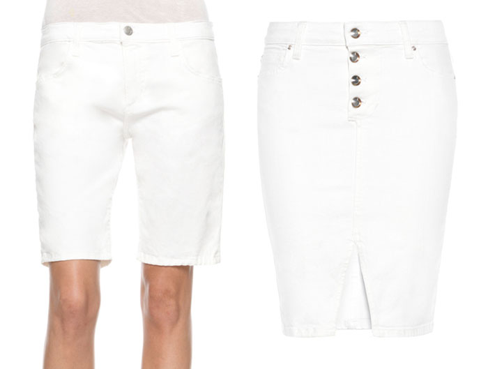 Stay Spotless in White Denim with JOE'S  - Short and Skirt