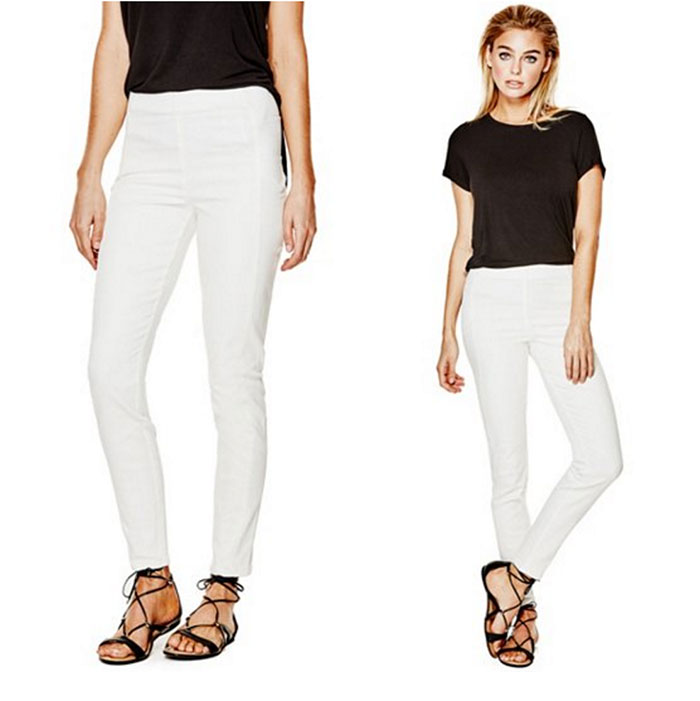 Jeancare Moisturizing Denim by GUESS - White High Rise Jeggings