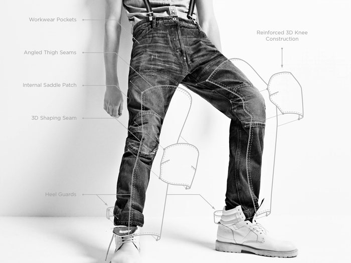 G-Star RAW Elwood 5620 jeans 20th Anniversary - Drawing