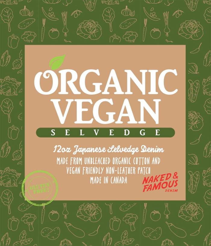 Gluten Free Organic Vegan Selvedge Denim by Naked & Famous - Label