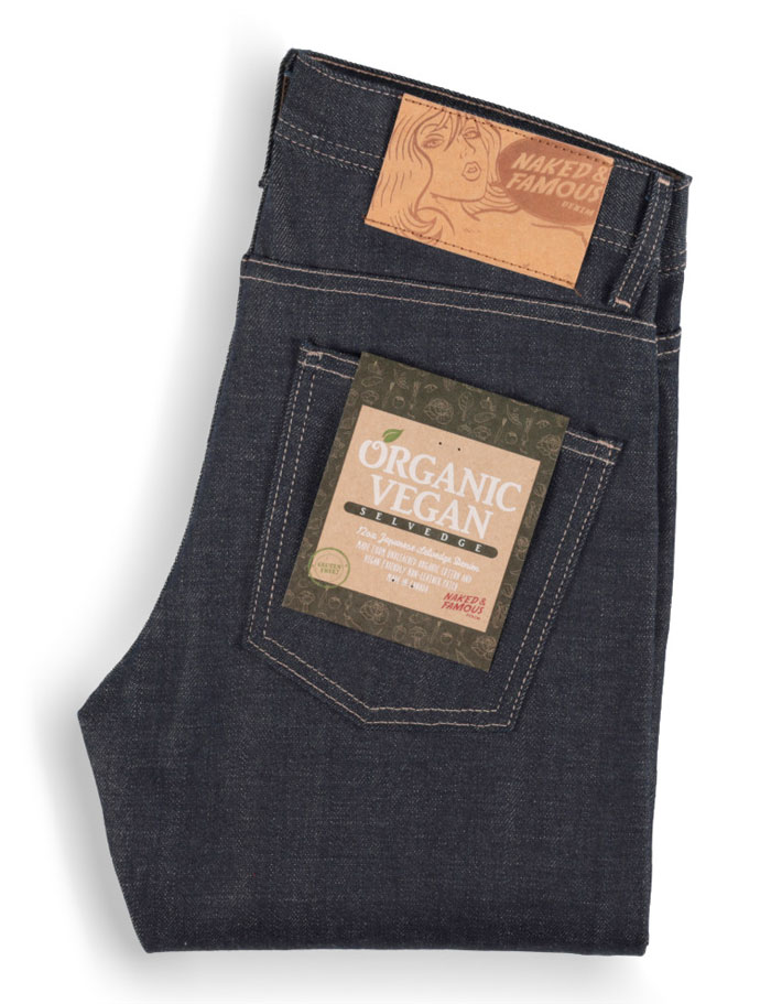 Gluten Free Organic Vegan Selvedge Denim by Naked & Famous - Back Pocket