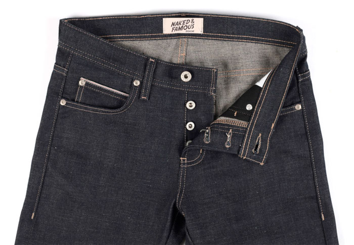 Gluten Free Organic Vegan Selvedge Denim by Naked & Famous - Fly