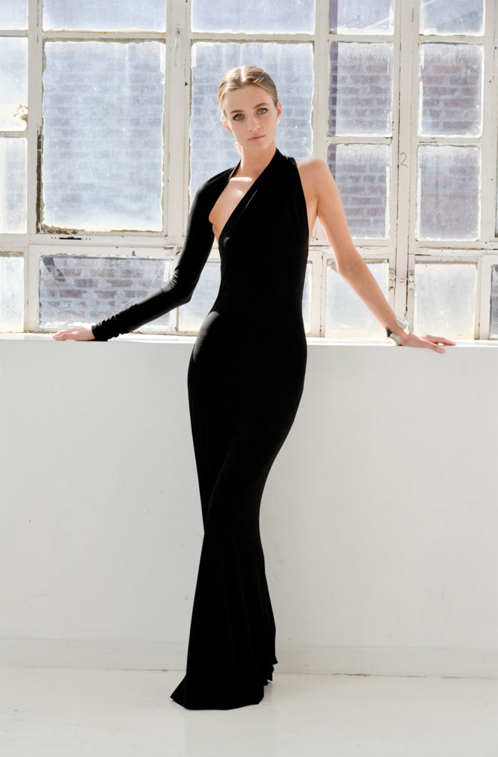 Dark Modern Minimalist Pieces by marcellamoda - One Shoulder Formal Maxi Dress