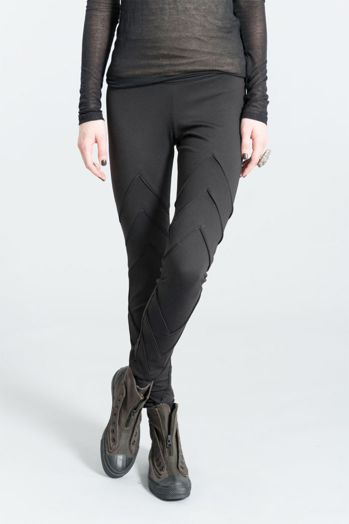 Dark Modern Minimalist Pieces by marcellamoda - Designer Long Leggings