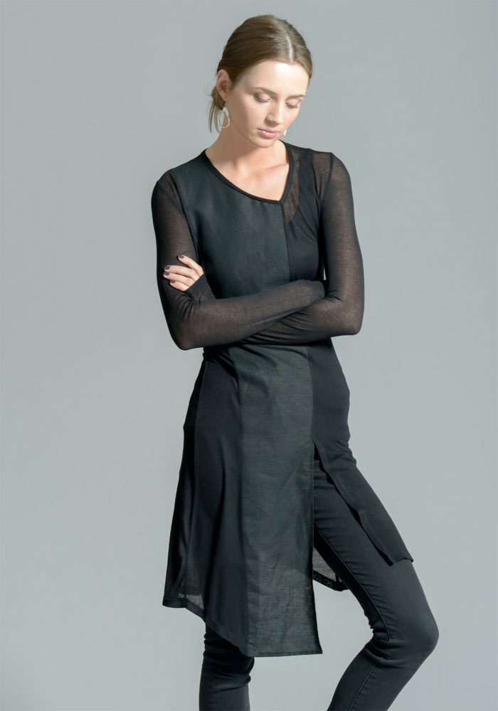 Dark Modern Minimalist Pieces by marcellamoda - Long Tunic