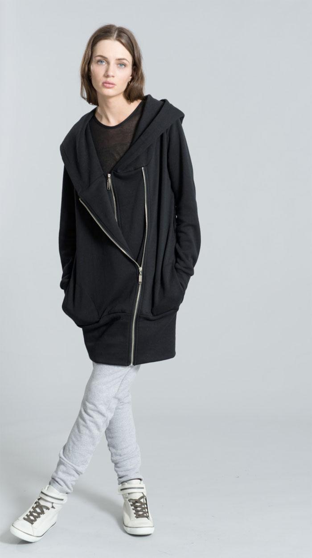 Dark Modern Minimalist Pieces by marcellamoda - Oversize Hoody Sweatshirt