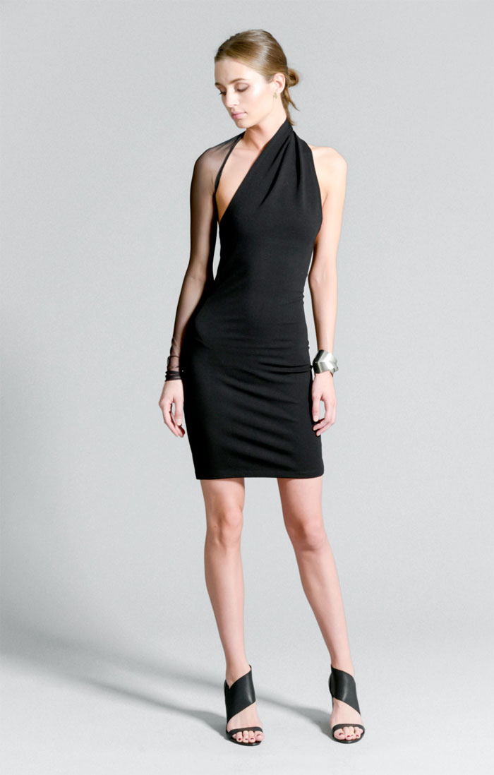 Dark Modern Minimalist Pieces by marcellamoda - One Shoulder Party Dress