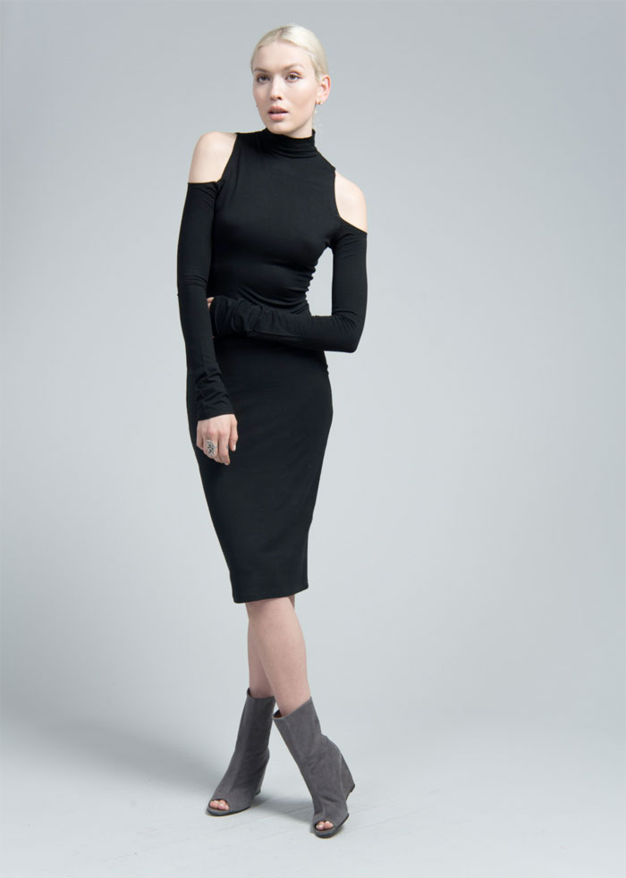 Dark Modern Minimalist Pieces by marcellamoda - Bare Shoulder Dress