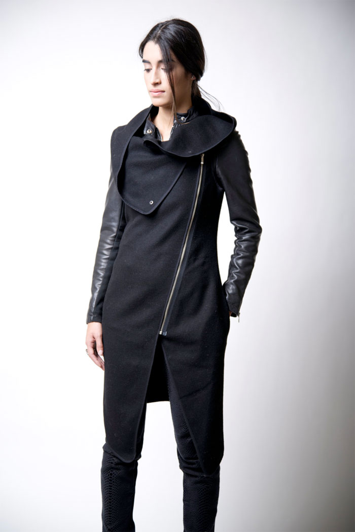 Dark Modern Minimalist Pieces by marcellamoda - Asymmetrical Vest with Zipper