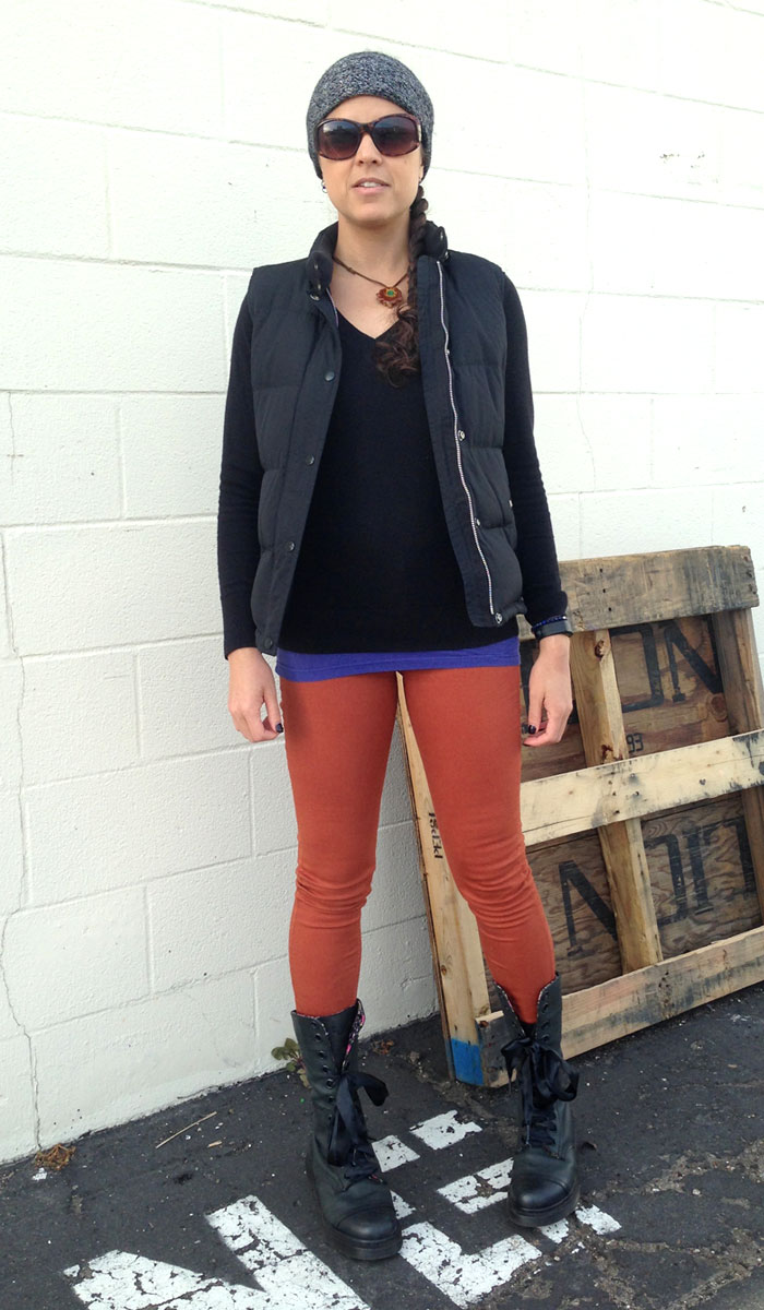 The Rag & Bone Twill Legging in Burnt Orange - Front View