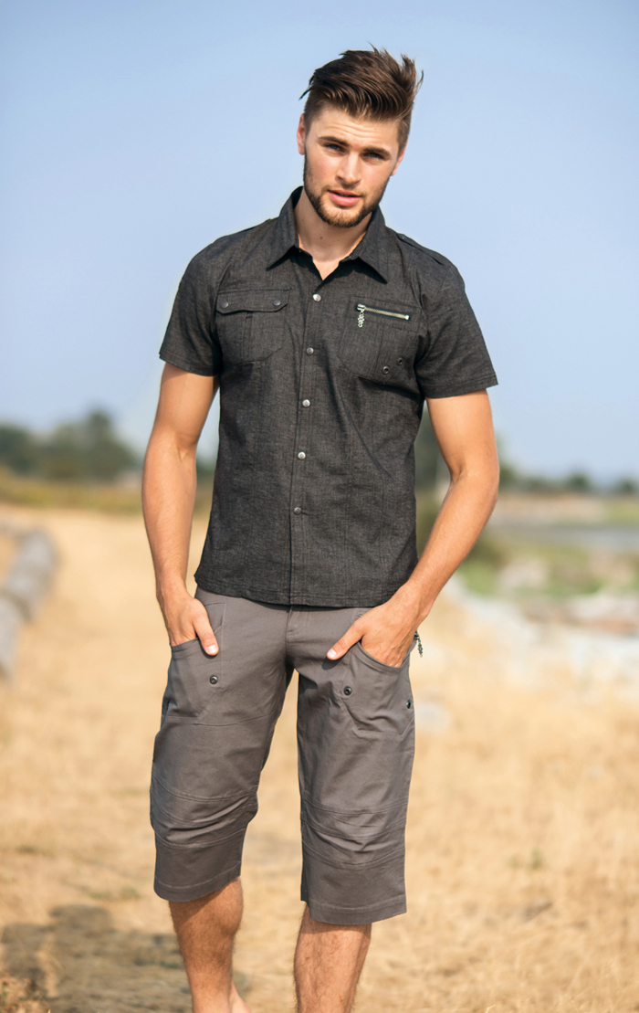 Spring Designs from Nomad's Hemp Wear - Men's Militia Shirt