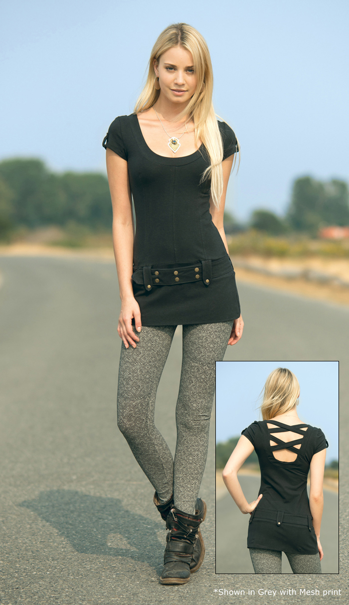 Spring Designs from Nomad's Hemp Wear - Samsara Tunic and Spectrum Leggings