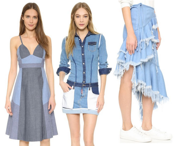 22 Unique Denim Pieces at Shopbop - Dresses and Skirt
