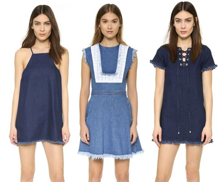 22 Unique Denim Pieces at Shopbop - More Short Dresses